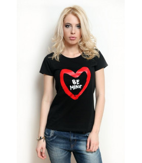 "Tricou ""Be Mine "" Black"