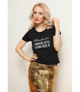 "Tricou ""Blondes are Absolutely Fabulous"" Black"