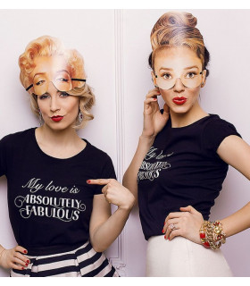 "Tricou "" My Love is Absolutely Fabulous"" Black"