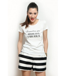 "Tricou ""Brunettes are Absolutely Fabulous"""