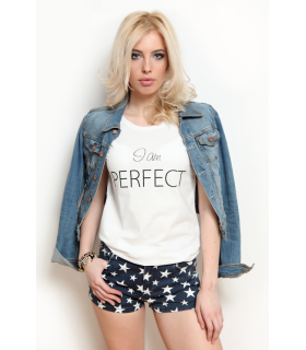 "Tricou ""I am PERFECT"""
