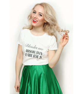"Tricou ""Blondes are Absolutely Fabulous"""
