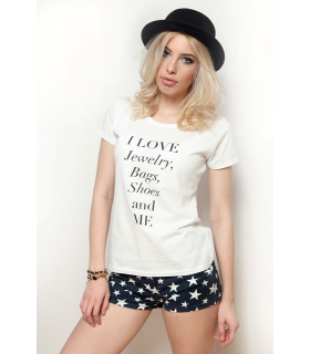 "Tricou "" I love jewelry"""