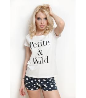 """Tricou """"Petite & Wild"""""""