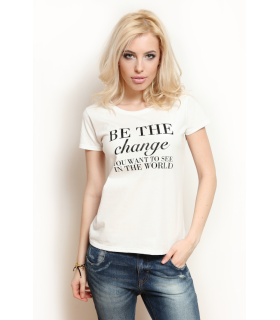 "Tricou "" Be the Change"""