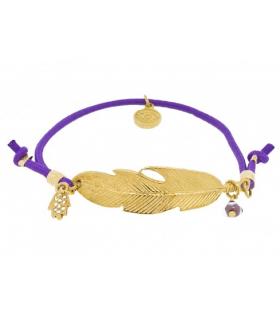 Bratara Gold Feather