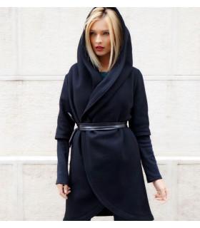 Black Hoodie Coat