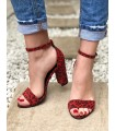 Sandale Red Leopard