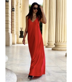 Red SlipOn Dress