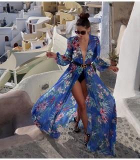 Blue Santorini Beach Dress