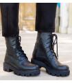 Black Croco Boots