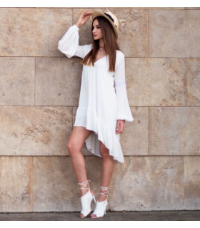 White Waves Dress