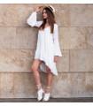 White Waves Dress