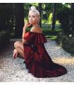Precious Burgundy Dress