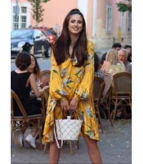 Yellow Silk Dress