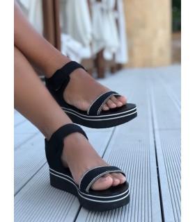 Black & Sparkle Sandals