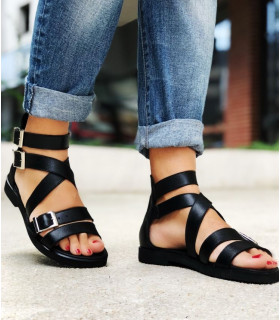 Black Urban Sandals