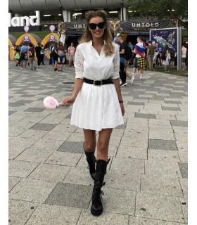 White Florence Dress