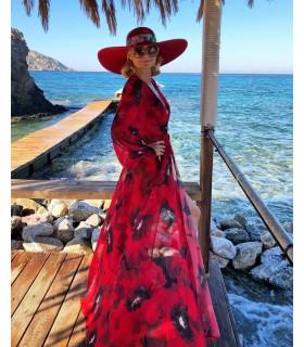 Rochie de plaja Red Poppies