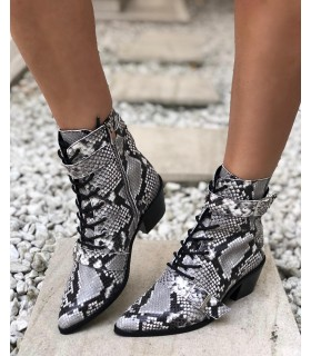 Marble Snake Boots