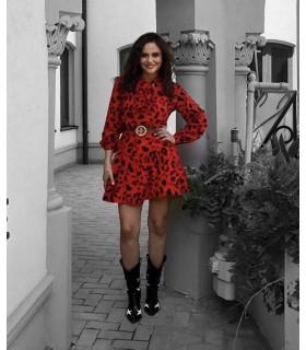 Rochie Red Leopard