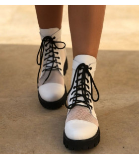 White Transparent Boots