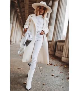 Palton Midi White
