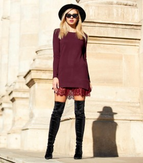 Burgundy Love Dress