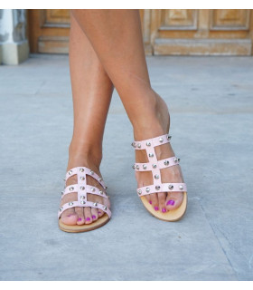 Rose Spike Sandals