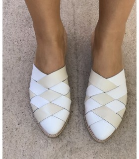 Comfy White Mules