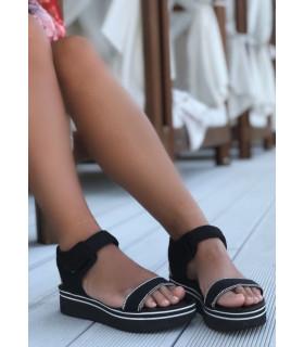 Black&ampSparkle Sandals
