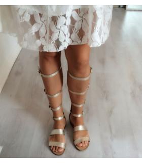 New Gold Gladiators Sandals