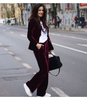 Casual Velvet  Suit