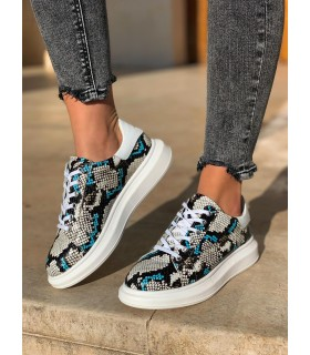 Blue Phyton Shoes