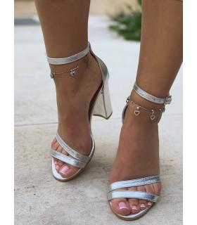 SIlver Heart Sandals