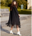 Black Fringes Kimono