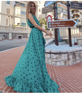 Green Star Dress