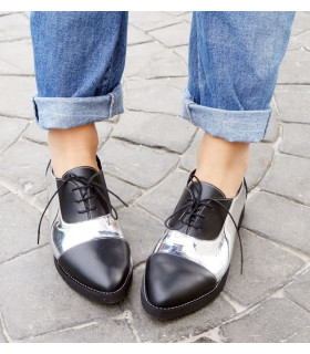 Spring Black &amp Silver Shoes